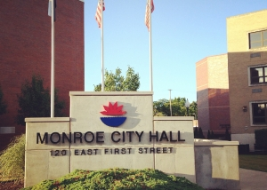 City of Monroe Plaza Sign