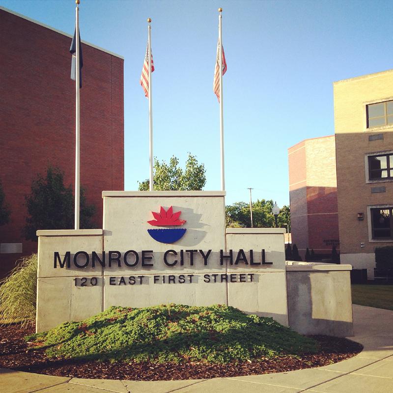 City of Monroe Plaza Sign